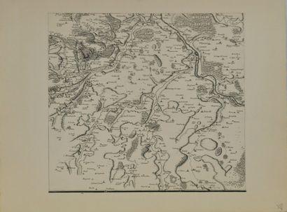 Jean-Dominique CASSINI (1625-1712) d'après  Grande carte particulière des environs...