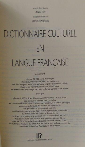Le Dictionnaire culturel en langue française sous la Direction d'Alain Rey - Le...