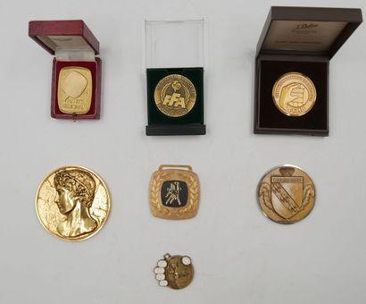 SPORTS (Divers). Ensemble de 7 Médailles....