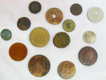 Fort lot de Monnaies France. Diverses Epoques...