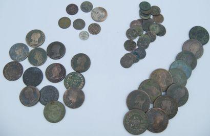 Monnaies Dupré et Napoléon. (55).  Dupré-1...