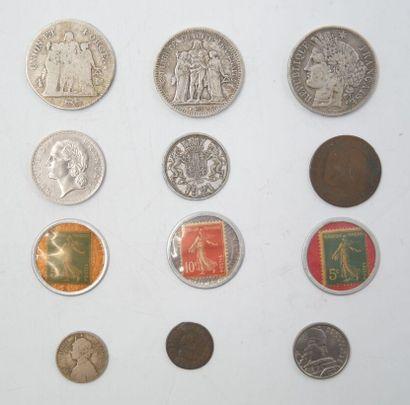7 Monnaies Royale, Empire et République,...