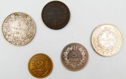 Monnaies République Française.  Un Décime, Dupré, grand module, cuivre, An 7/5 (1798-1799)...