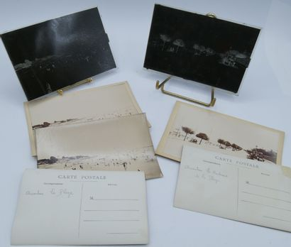 30 PHOTOGRAPHIES : 8 plaques de Verre et...