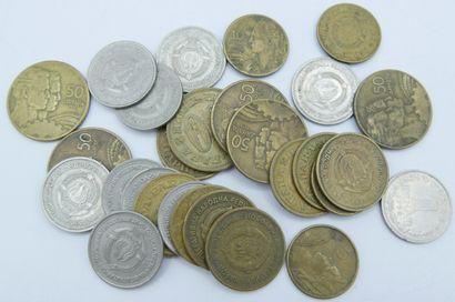 Monnaies Etrangères. (128).  Argentine-2 Cts 1895, Duché de Nassau-6 Kreutzer 1818,...