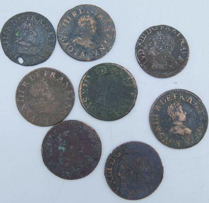 Monnaies Royales. (55).  Louis XIII (8),...