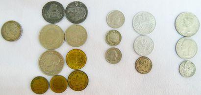 Monnaies Europe (Nord). Allemagne (9), Autriche (3), Belgique (3) et Suisse (3)....