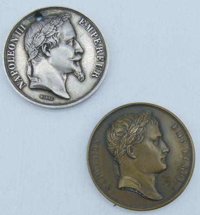 2 Médailles Argent et Bronze.  Napoléon et...
