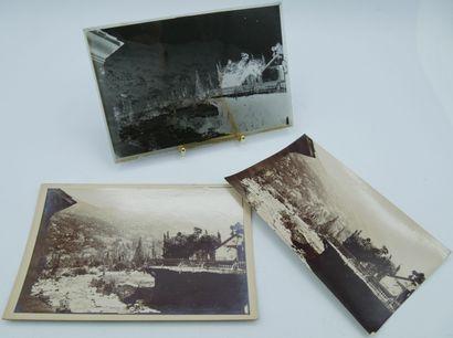 55 PHOTOGRAPHIES : 10 plaques de Verre et...