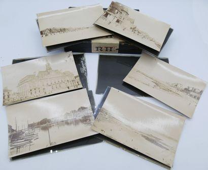104 PHOTOGRAPHIES : Sur plaque de verre,...