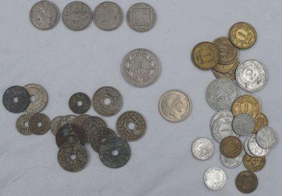 Monnaies Etrangers et France. Diverses époques...