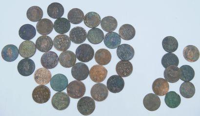 Monnaies Liard de France. (42).  Liard Lettre...