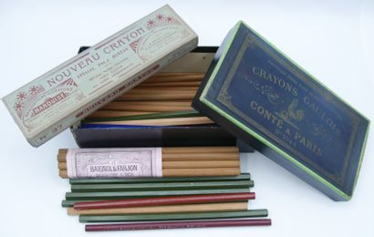 ECRITURE & DESSIN.  Crayons de Bois : 19-Polygrades...