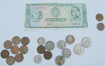 Monnaies Continent Les Amériques (21 et 1...