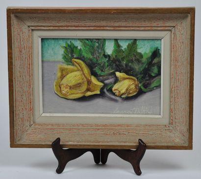 Laurent DELHIEF  Les roses jaunes  Huile...