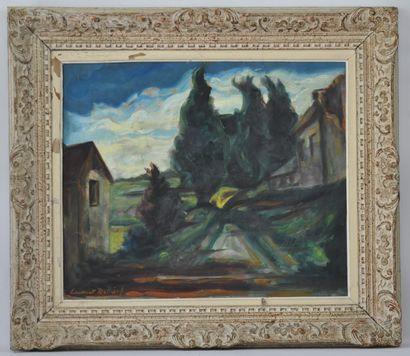 Laurent DELHIEF  Ruelle de village  Huile...