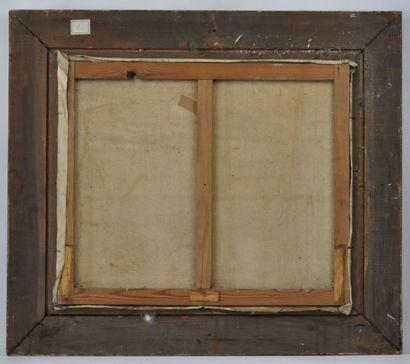 Laurent DELHIEF  Le retour de pêche  Huile sur toile signée en bas à droite  54...