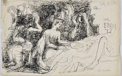 Fikret Saygi MUALLA (1903-1967)  Femmes alanguies...