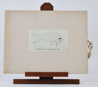 Joseph HECHT (1891-1951)  Carnet «Animaux»...