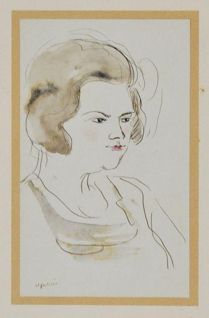 Oscar FABRÈS (1895-1961)  3 dessins à l'encre...