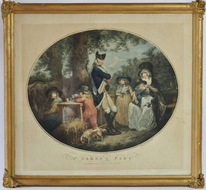 D'après George MORLAND.  A Tea Garden & Saint-James...