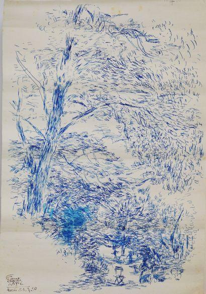 Fikret Saygi MUALLA (1903-1967)  Le parc...