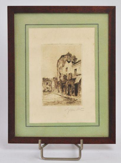 Georges GREMILLET (1893-1971)  Scène de rue...