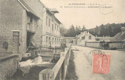 137 CARTES POSTALES EURE : Villes, qqs villages,...