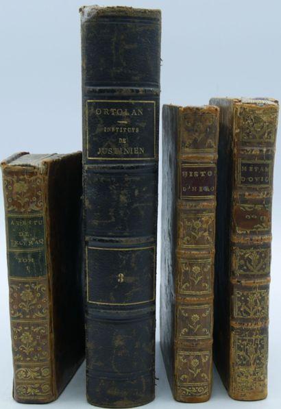 [CLASSIQUE & DIVERS]. Ensemble de 4 Volumes....
