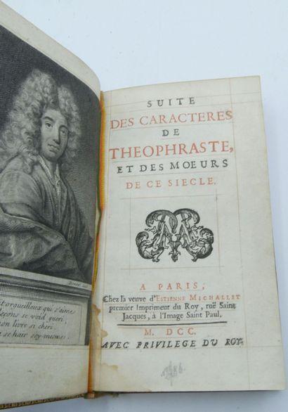 LA BRUYERE. Suite des caractères de Théophraste et des moeurs de ce siècle. Paris,...