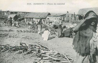 16 CARTES POSTALES AFRIQUE NOIRE : Djibouti-3cpa...