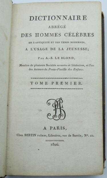 [EDUCATION & RELIGION]. Ensemble de 7 Volumes. Reliures d'époque.  Hocquart. Petit...