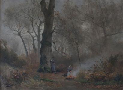 François de MONTHOLON (1856 - 1940)  Paysannes...
