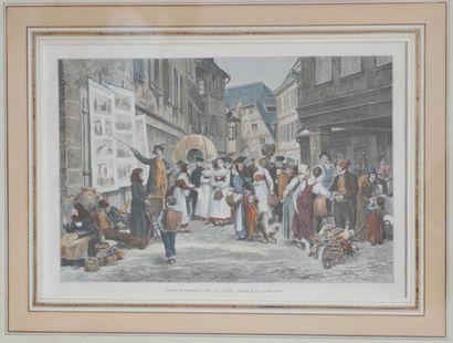 Frédéric Théodore LIX (1830-1897), d'après  Chanteur à complaintes allemandes à...