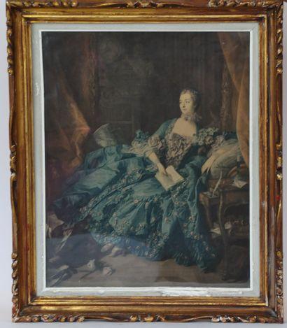D'après François BOUCHER (1703-1770)  Portrait...