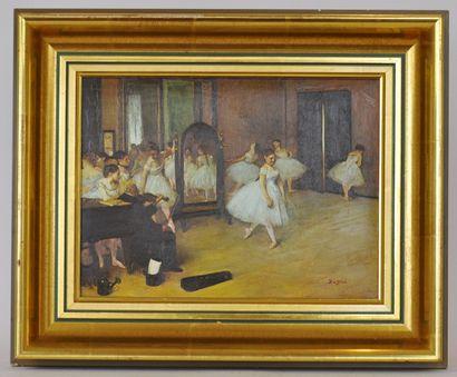 D'après Edgar DEGAS (1834-1917)  L'école...