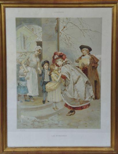 Auguste Emile PINCHART (1842-1920)  Les étrennes...