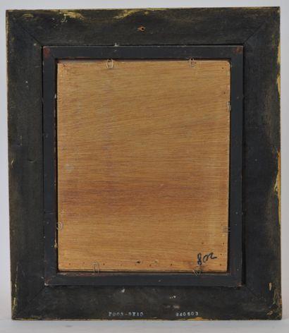 Ecole du XXème siècle. D'après Johannes Vermeer (1632-1675)  La laitière  Huile...