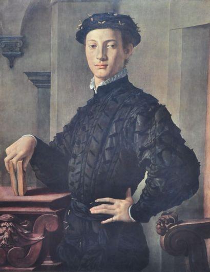 D'après Agnolo BRONZINO (1503-1572)  Portrait...