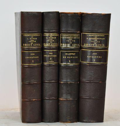 BAUDRY-LACANTINERIE (Gabriel)  Traité théorique...