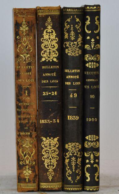 Bulletins et recueils annotés des lois en...