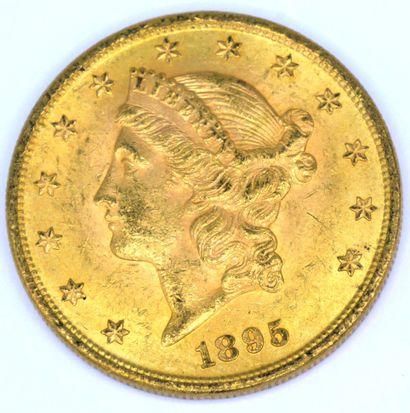 Une Monnaie OR - Liberty Une pièce 20 Dollars Liberty, 1895.  Poids : 33,42grs.  ...