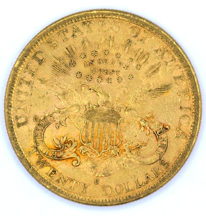 Une Monnaie OR - Liberty Une pièce 20 Dollars Liberty, 1882.  Poids : 33,39grs.  ...
