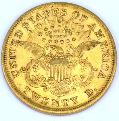 Une Monnaie OR - Liberty Une pièce 20 Dollars Liberty, 1872.  Poids : 33,35grs.  ...
