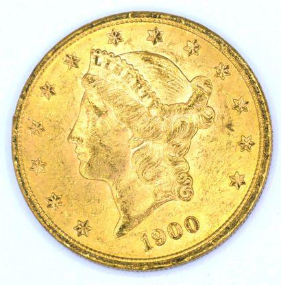 Une Monnaie OR - Liberty Une pièce 20 Dollars Liberty, 1900.  Poids : 33,44grs.  ...