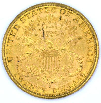 Une Monnaie OR - Liberty Une pièce 20 Dollars Liberty, 1888.  Poids : 33,42grs.  ...