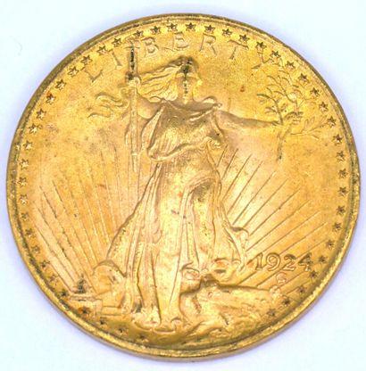 Une Monnaie OR - Saint Gaudens - Double Eagle Une pièce 20 Dollars Saint Gaudens,...