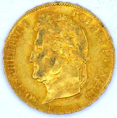 Une Monnaie OR - Louis Philippe 1er Une pièce. 20 Francs Louis-Philippe, type Domard...
