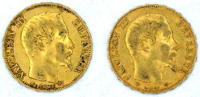 Deux Monnaies OR - Napoléon III (Tête Nue)