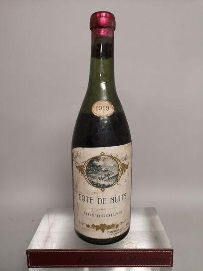 1 bouteille COTE DE NUITS 1919 - Ets. F....